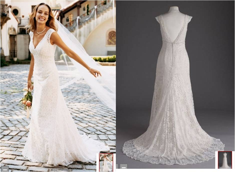 Http Www Davidsbridal Product Allover Beaded Lace Trumpet Gown T9612