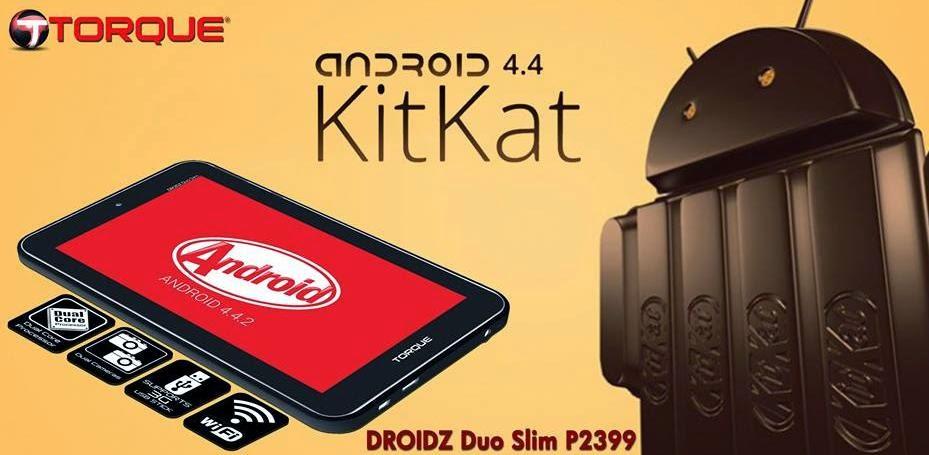 Torque Droidz Duo Slim, Dual Core 7-inch KitKat Tablet
