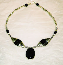 Onyx, sardonyx, and Bali silver