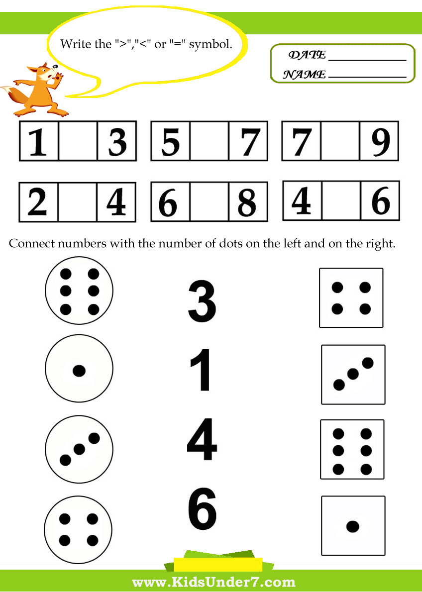 Kids Under 7 Kids math worksheets – Kids Math Worksheet