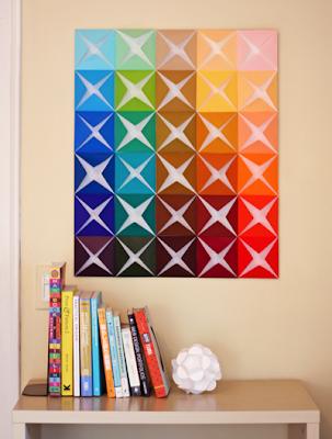 Yang anda butuhkan untuk membuat hiasan dinding dari kertas lipat