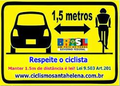 Respeite o Ciclista 1,5 Metros