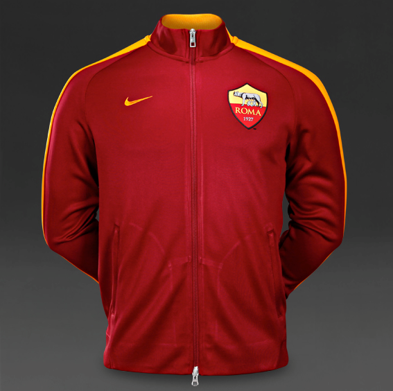 Jaket Bola GO Thailand AS Roma 2015 Home Red Totti