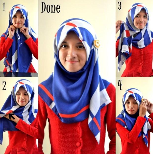 Model 5. Kreasi Hijab Paris Modern Terbaru 2015 Tanpa Ciput Ninja