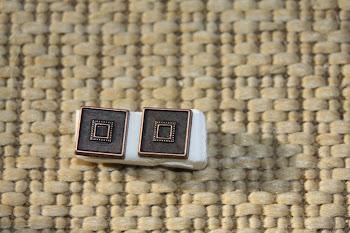 Square copper colored