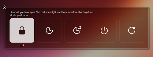 Unity style shutdown dialogs Ubuntu