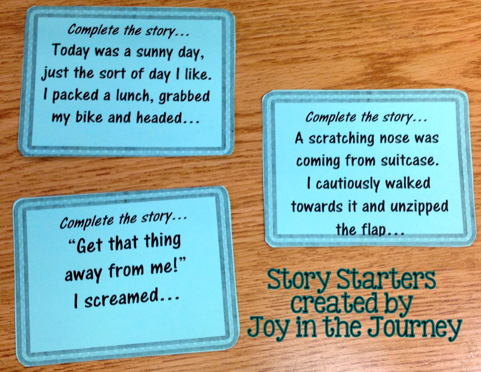 Tried-It Tuesday: Story Starters - ~Joy in the Journey~