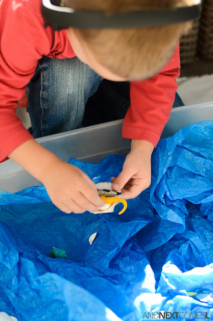 Ocean inspired sensory play for kids from And Next Comes L