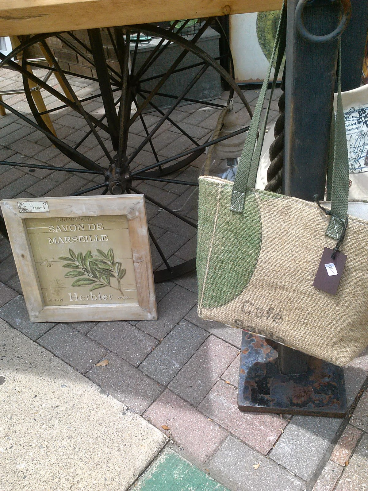 Plymouth Art in the Park- Grounds bags - Birch Wood - linaandvi.blogspot.com