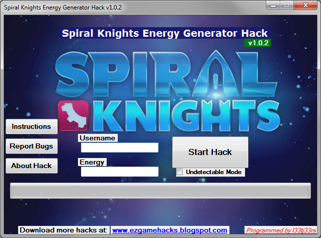 Spiral Knights Energy Generator Hack 2013 [v1.0.2] Free Download