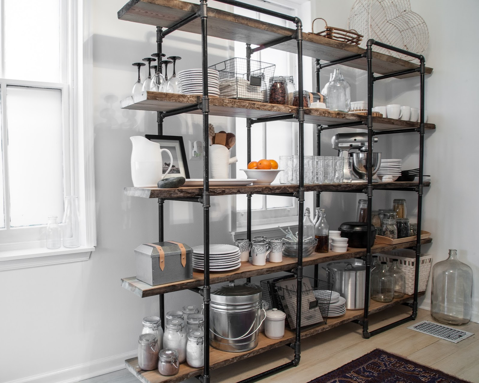 Diy project how to build a freestanding industrial shelf Open shelving