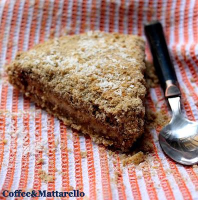 sbriciolata al grano saraceno, cocco e cioccolato