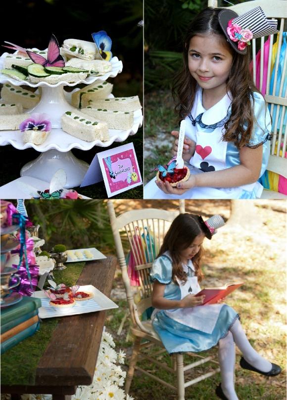 Focus on tea table styled shoot alice in wonderland mad for Alice in wonderland tea party decoration ideas