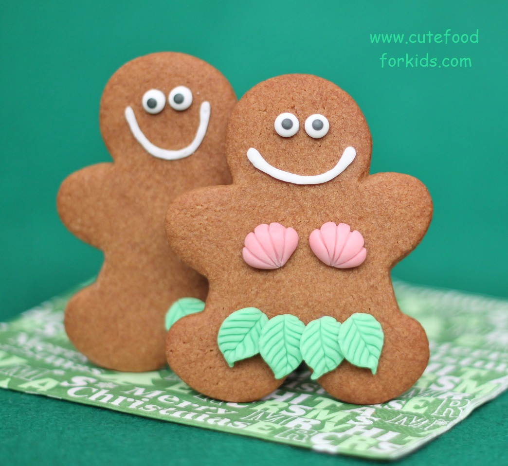 cute food for kids gingerbread adam and eve