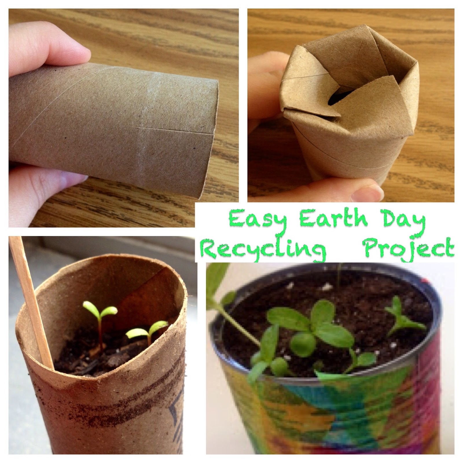 Kindergarten is crazy fun easy earth day planting for Easy recycling ideas