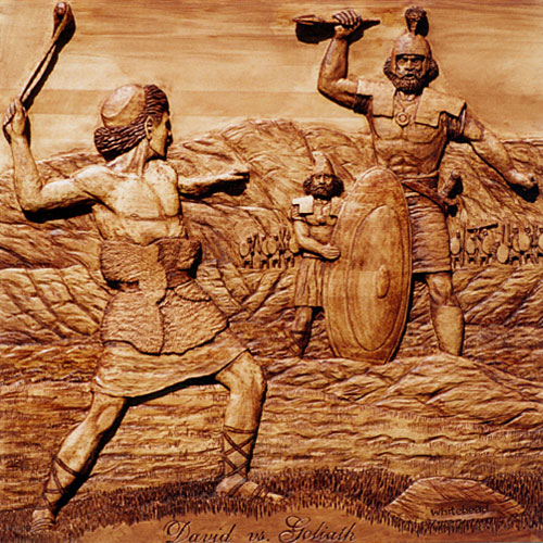 a summary and an analysis of the story of david and goliath It's a classic underdog tale: david, a young shepherd armed only with a sling, beats goliath, the mighty warrior the story has transcended its biblical origins to become a common shorthand for unlikely victory.