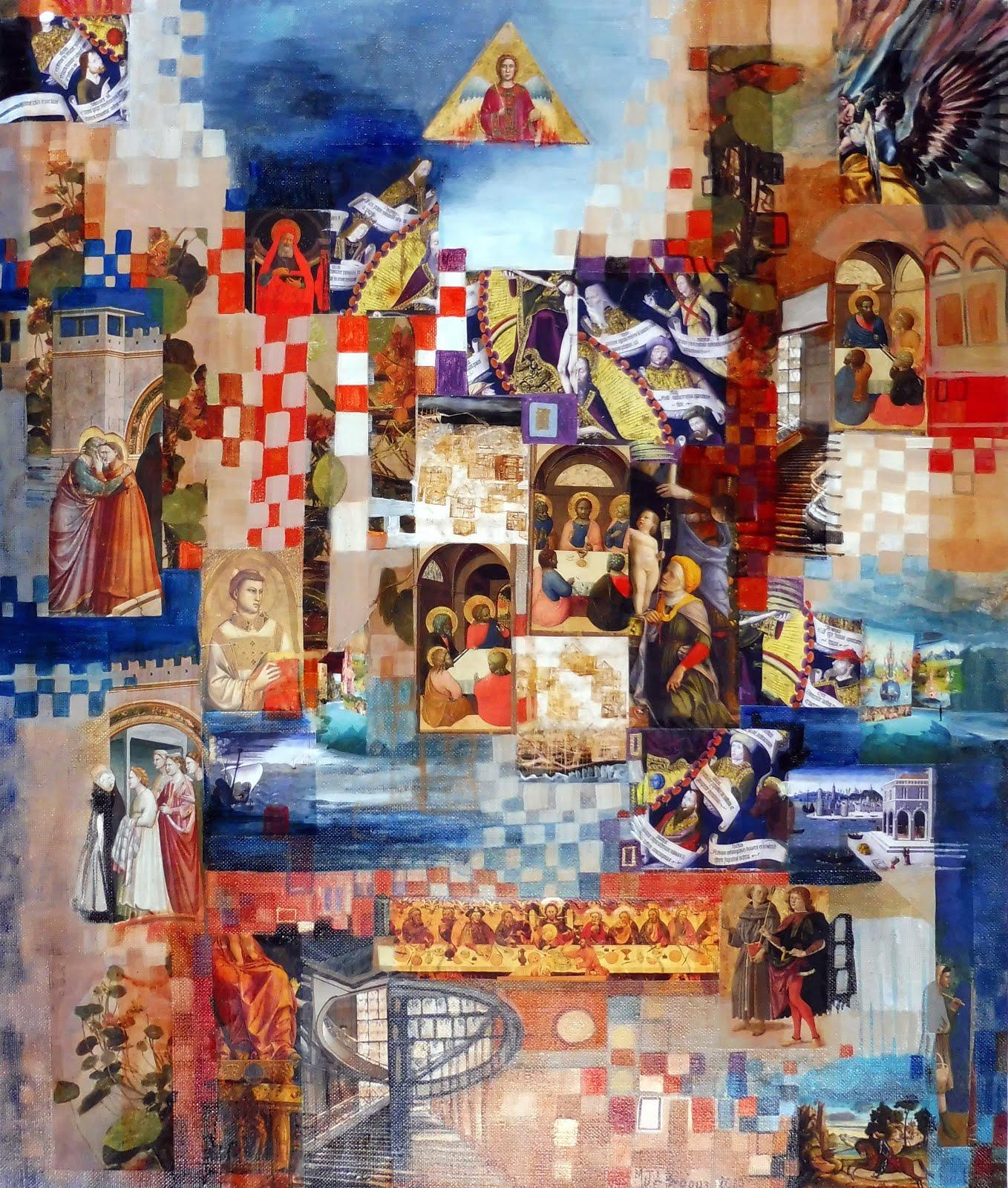 Jésus parmi les siens - 56 x 67 cm - 2020