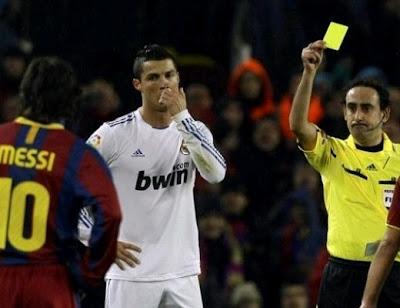 Cristiano Ronaldo booked