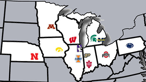 Where are the 2012 Big Ten recruits from?