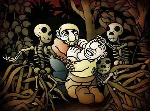 zbrodnia w baśniach, Brutalność w baśniach, brutalność, śpiewająca kość, singing bone, sprawiedliwość baśni, morał, Lilie, Adam Mickiewicz, Ballady, Krwawe Baśnie, Mateusz Świstak, Baśnie na warsztacie, bratobójstwo