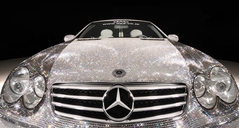 Latest cars diamond covered mercedes benz price for How much does a mercedes benz silver lightning cost