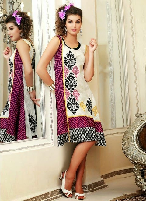 Printed And Embroidered Kurtis