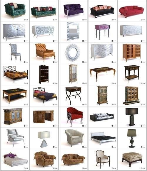 Free 3d Objects Classic Furniture 3d Models