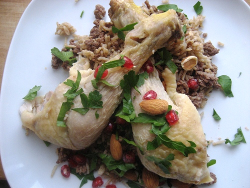 arabisk kylling med ris