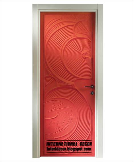 modern red interior door design 2015  modern art door panel 2015. Modern art doors 2015  modern doors designs and colors