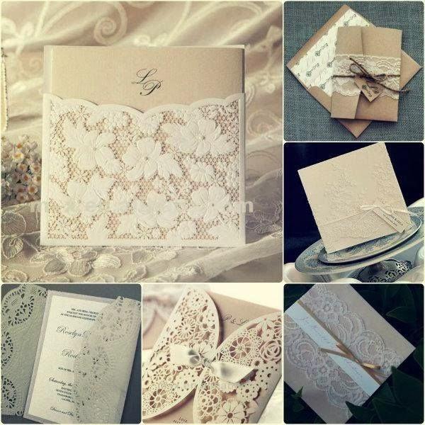 invitación de boda estilo rústico chic