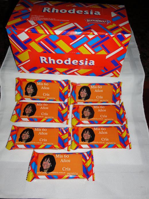 Obleas de chocolate personalizadas