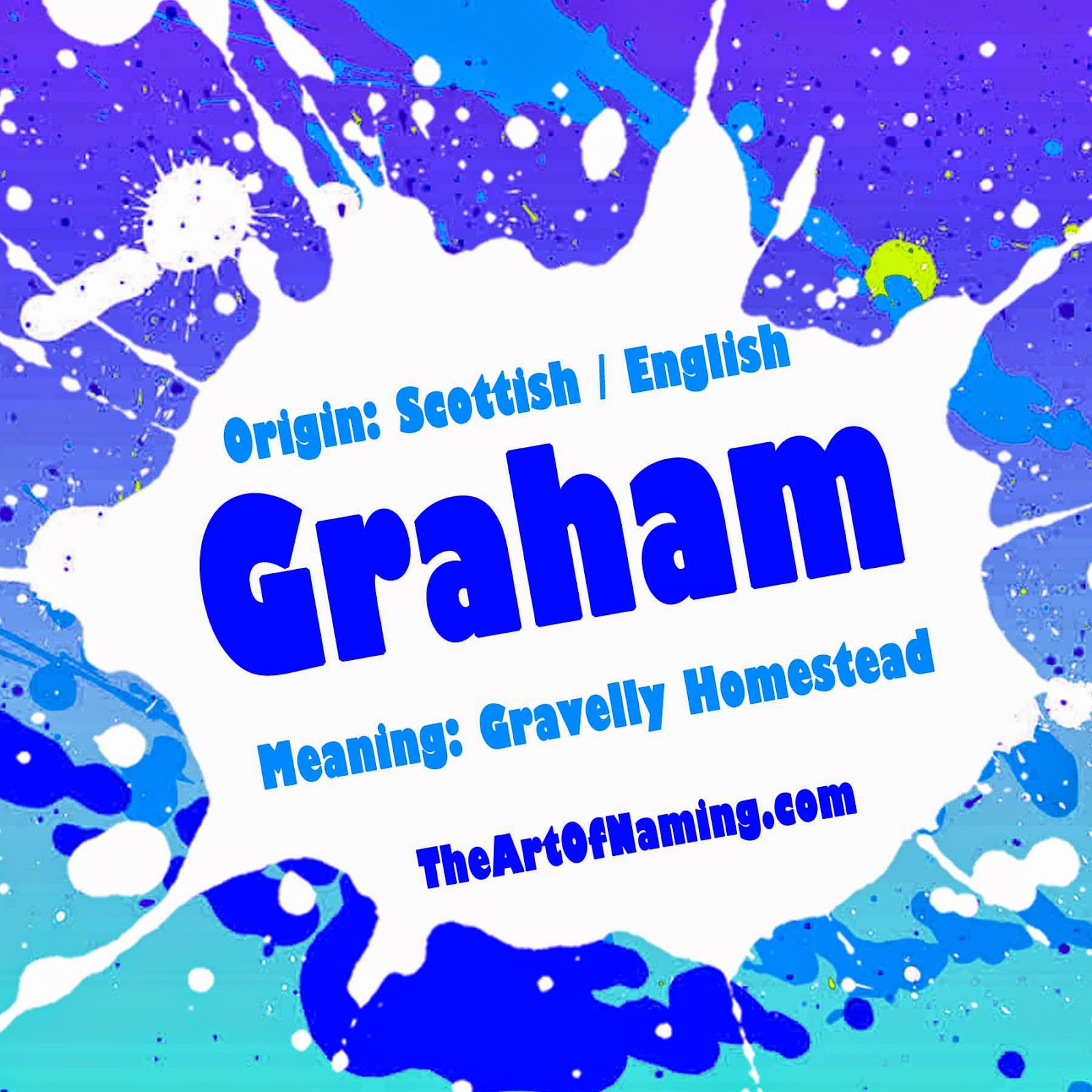 Graham Is A Scottish Surname Which Was Derived From The English Place Name Grantham This Likely To Mean Gravelly Homestead In Old