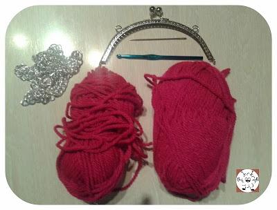 material para realizar a ganchillo el bolso hobo