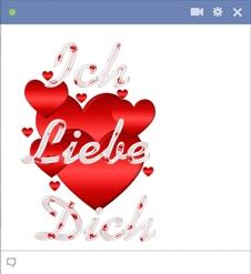 Ich Liebe Dich Facebook Smileys Emoticon
