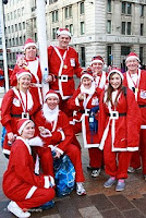 Some of the team at Liverpool Santa Dash 2009