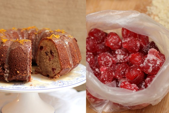 Spicy Cherry Yogurt Bundt Cake #BundtaMonth | Vintage Kitchen Notes