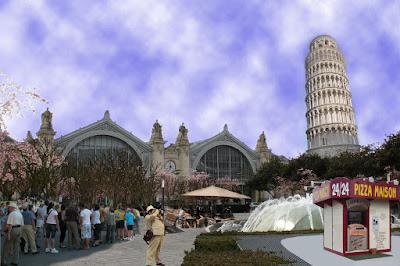 gare de Tours projet ilot Vinci tour de Pise
