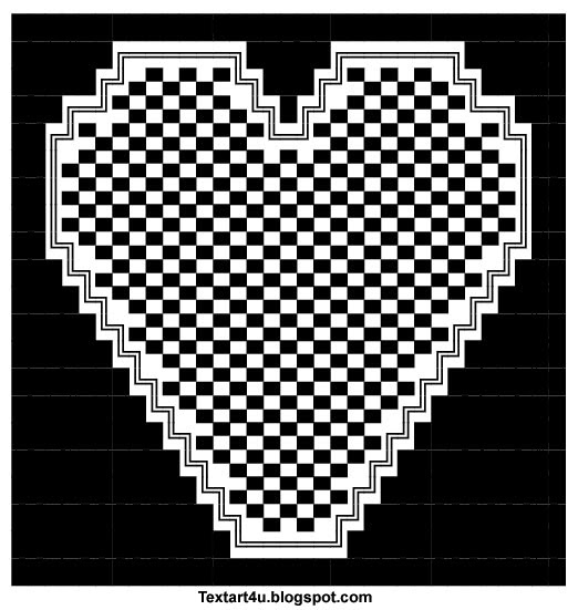 One Line Ascii Art Hearts : Ascii text art copy and paste bing images
