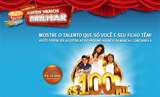 """Promoção Nestlé Farinha Láctea - """"JUNTOS VAMOS BRILHAR"""""""