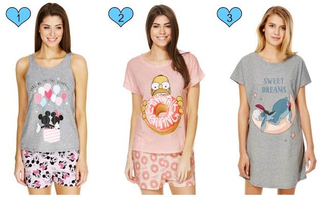 tesco f&f disney mickey eeyore simpsons pyjamas bed time wish list