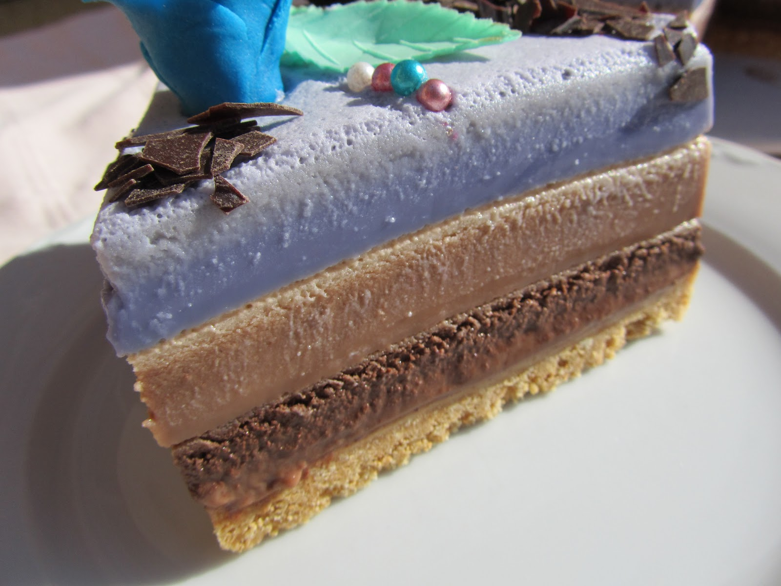 receta tarta tres chocolates con gelatina