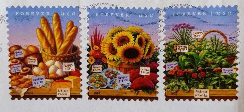 francobolli USA serie Farmers Market
