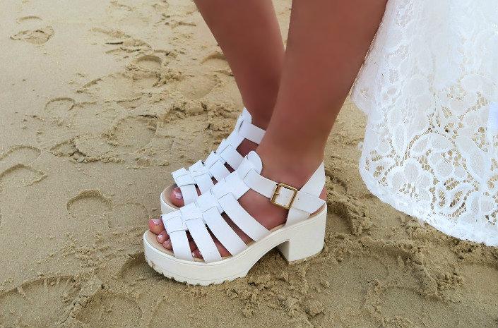 spylovebuy white summer sandals discount code @ hayleyeszti