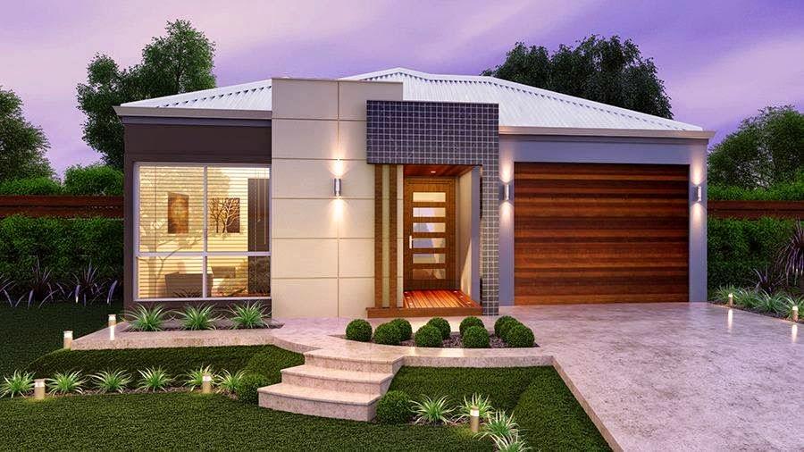 Construindo minha casa clean 30 fachadas de casas for Fachadas para casas pequenas modernas