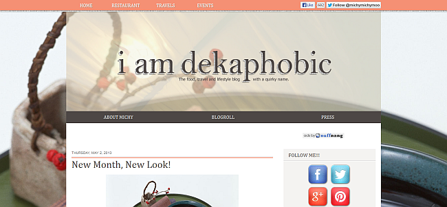 dekaphobe new blog template