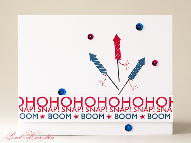 Happy 4th of July Card with Red, White & Blue from Papertrey Ink by Sweet kobylkin