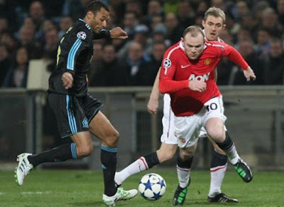 Champions League, Wayne Rooney Man Utd, Edouard Cisse Marseille