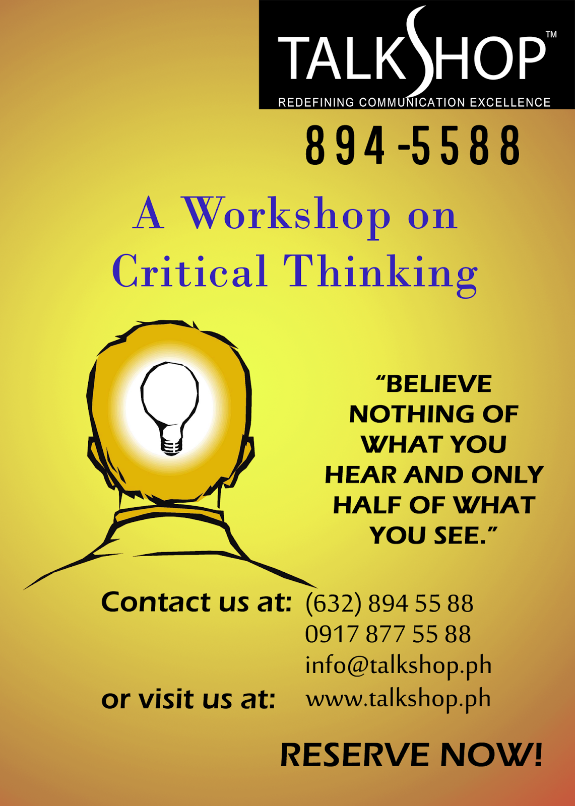 Critical Thinking Workshop