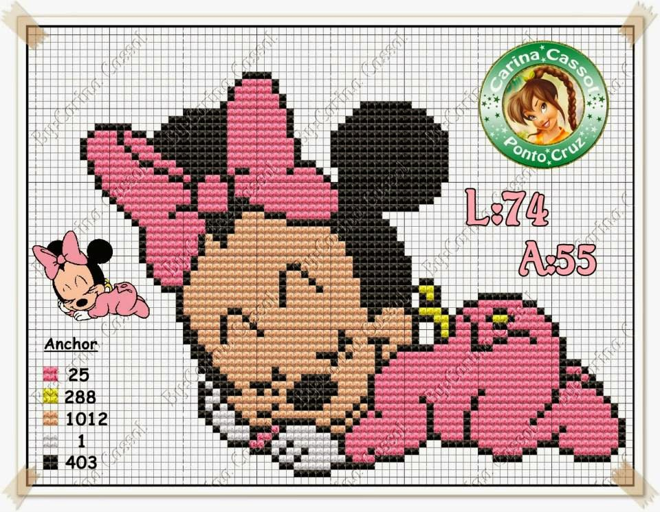 Bien-aimé Schemi Punto Croce Baby. Perfect Schemi Punto Croce Disney Baby  DE44