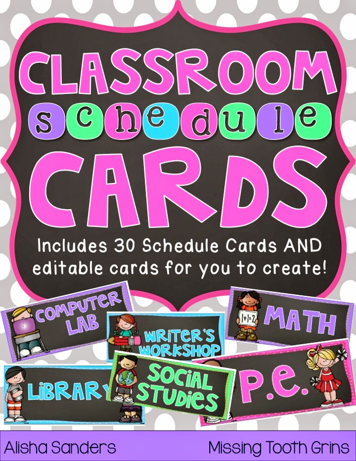 https://www.teacherspayteachers.com/Product/Editable-Schedule-Cards-Chalkboard-1411178
